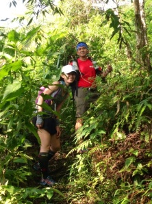 Start of the trail from Sukamantri - fairly thick vegetation for around 500m