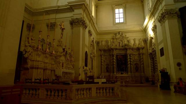 Inside of St Irene in Lecce