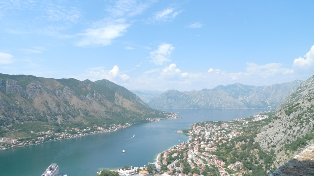 The view from top of Kotor's city wall