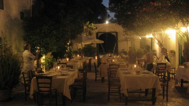 Dinner preparation at Masseria Il Frantoio