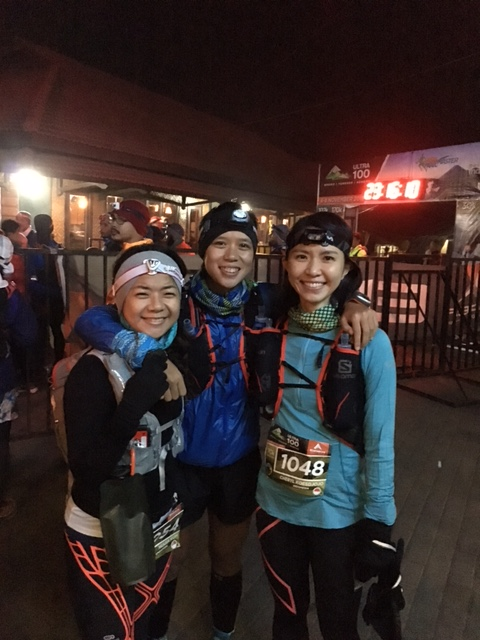 At the start line with Jia and Sara